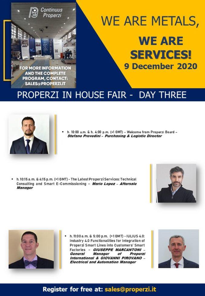 Properzi In House Fair 2020 Day Three